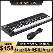 WORLDE PANDA61 портативный 61 клавишный USB MIDI контроллер клавиатуры 8 RGB с Цветной подсветкой триггерные подушки piano midi контроллер