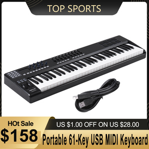 Image 1 - WORLDE PANDA61 taşınabilir _ _ _ _ _ _ _ _ _ _ _ _ _ _ _ _ _ _ _ _ Key USB MIDI klavye denetleyici 8 RGB renkli arkadan aydınlatmalı tetik pedleri piyano midi denetleyici
