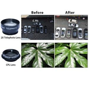 Image 3 - APEXEL HD 5 w 1 zestaw obiektywów aparatu telefonicznego obiektyw typu rybie oko + 0,63x szeroki kąt + 15x obiektyw makro + 2X teleobiektyw + obiektyw CPL dla większości telefonów