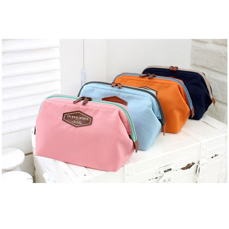 Multifunctional Fashion Cotton Portable Cute Cotton Wash Bag Steel Frame Cosmetic Bag