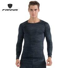 FANNAI Long Sleeve Sport Shirt Men Quick Dry Mens Running T-shirts Gym Clothing Fitness Compression Top Rashgard Jersey
