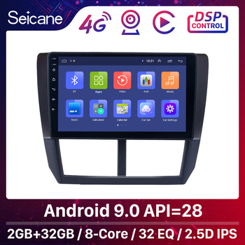 Seicane 9 Inch 2din Android 9.0 Car Radio For Subaru Forester 2008 2009 2010 2011 2012 Head Unit Wifi 3G Multimedia Player GPS image