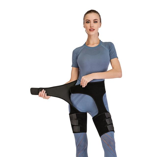 Women Sports yoga Knee Sleeve Woman Sweat Thigh Trimmers Leg Shaper  Belt Control Panties Fat Burning Wraps Thermo Belt 2