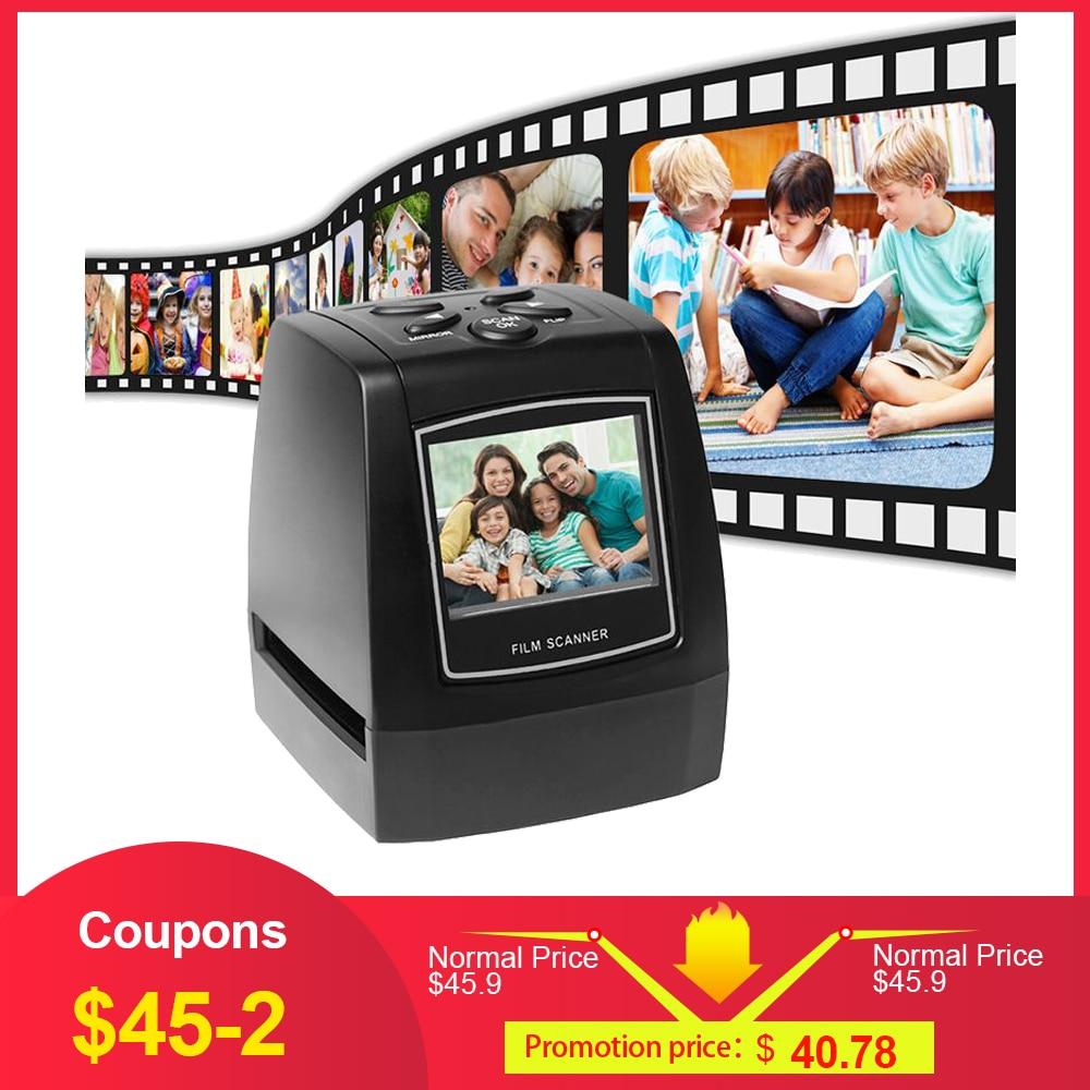 Protable Negative Film Scanner 35mm 135mm Slide Film Converter Photo Digital Image Viewer With 2.4