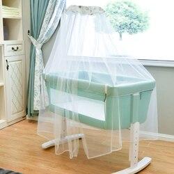 Cama de bebé removible recién nacido con costuras Cama grande multi-función almohada cama de estilo europeo bb cama de madera sólida para bebé