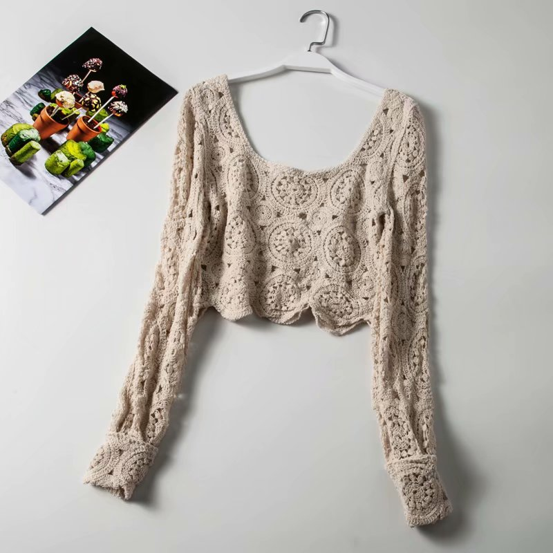 fashion boho tops solid color summer hollow out blouses tops sexy square collars women blouses