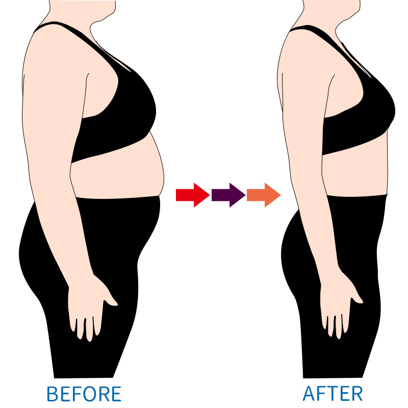 before after body shapes