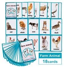Crianças montessori educativos diversão inglês palavra bolso cartão flash bebê aprendizagem educacional inglês jogo de mesa cartões