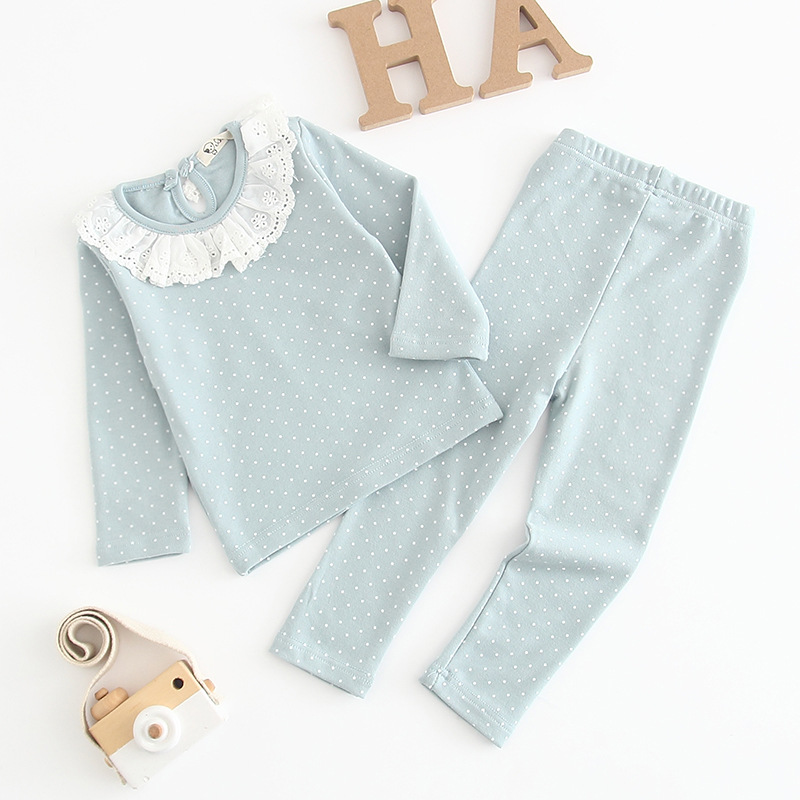 2 Colors 2020 New Spring Infant Baby Girls Lounge Wear Toddler Girl Cotton Tracksuit Children Kid Pajamas Set Baby Evening Dress 1