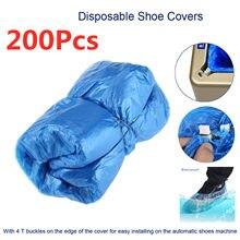 Couvre-chaussures jetables, 200 pièces, Anti-poussière, gouttelette, automatique, pochette, nettoyant pour chaussures d'extérieur, de pluie, pour la maison