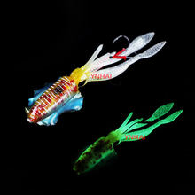 Pesca lula macia isca 60g luminoso/uv lula gabarito iscas de pesca para pesca marítima wobbler isca
