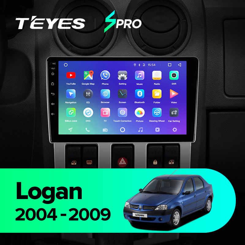 TEYES SPRO Renault Logan için 1 2004 2009 araba radyo multimedya Video oynatıcı navigasyon GPS Android 8.1 hayır 2din 2 din dvd