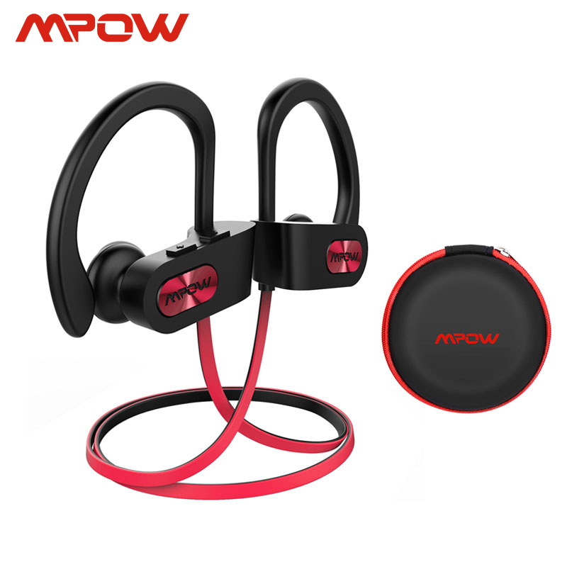 Mpow Flame IPX7 Waterproof Bluetooth 4.1 Headphones Noise Cancelling Earphone HiFi Stereo Wireless Sports Earbuds with Mic Case earbuds with mic earphone earbudswaterproof bluetooth headphones - AliExpress