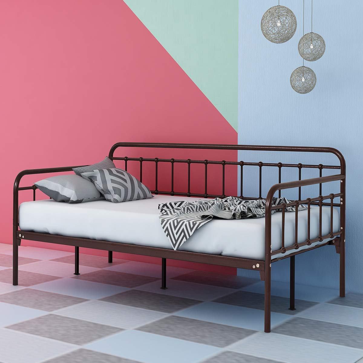 Dumee Metal Daybed Frame Firm Modern Guest Room Sofa Multifunction Muebles De Dormitorio Stability Bed Home Furniture Bedroom Aliexpress