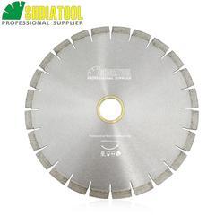 SHDIATOOL Dia 14 Silent Diamond Blade Sandwich Steel Core Cutting Disc Granite Blade Diamond Saw Blade Bore 60mm with 50mm ring