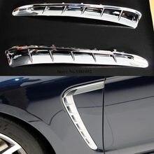 Auto Sowohl Seite Blatt Platte Für Porsche Panamera 2010 2011 2012 2013 2014 2015 2016 Air Outlet Streifen Dekoration Aufkleber trim 2 Pcs