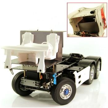 цена на 1Set 1/14 Tamiya Tractor Radio Tray Aluminum Alloy Cab Floor Board Metal Steering Servo Mount for 1:10 Trailer Truck RC Car Part