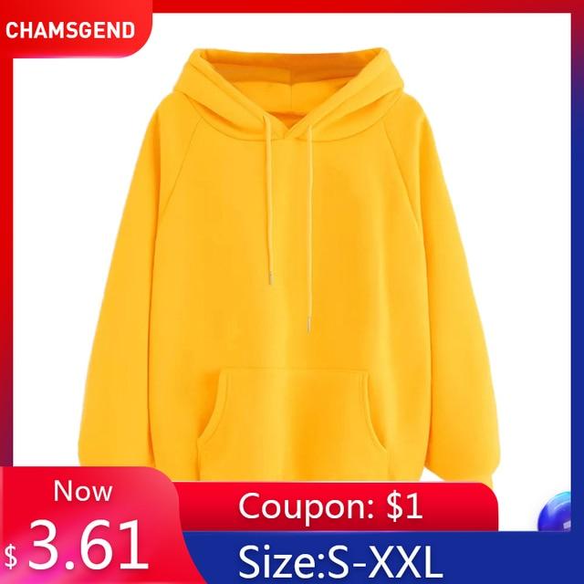 Womens hoodies Long Sleeve Hoodie Sweatshirt Hooded Pullover With Pocket  1