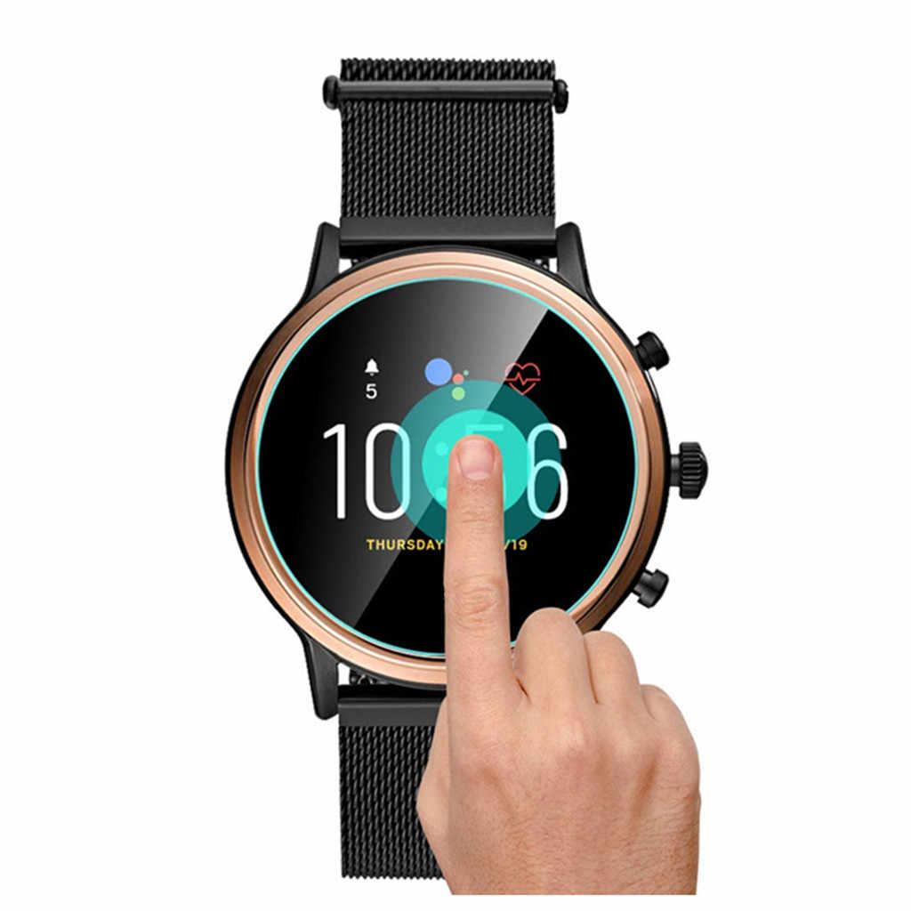 3PC Limpar Filme Protetor de Tela De Vidro Temperado para Fósseis Gen5 Q Relógio Inteligente Relógio Inteligente Acessório protetor de tela de vidro filme
