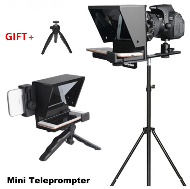 2020 New Mini Teleprompter Portable Inscriber Mobile Teleprompter Artifact Video With Remote Control for Phone and DSLR Recordin 1