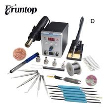 New Eruntop 8586 Digital Display  Electric Soldering Irons +DIY Hot Air Gun Better SMD Rework Station