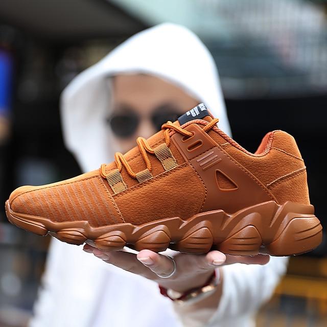 편안한 스포츠 야외 패션 스니커즈 남성 통기성 신발 워킹 남성 신발