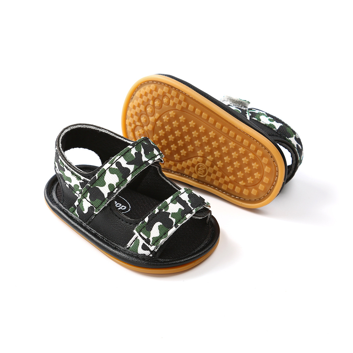 B&G Breathable Mesh Baby Sandals Summer Anti-slip Cotton Toddler Sandals Baby Shoes First Walkers