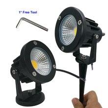 تيار مستمر 9 واط مصابيح مقاومة للماء LED مصباح حديقة DC12V المشهد بقعة ضوء IP65 12 فولت مصابيح إضاءة خارجية سبايك ضوء للحديقة