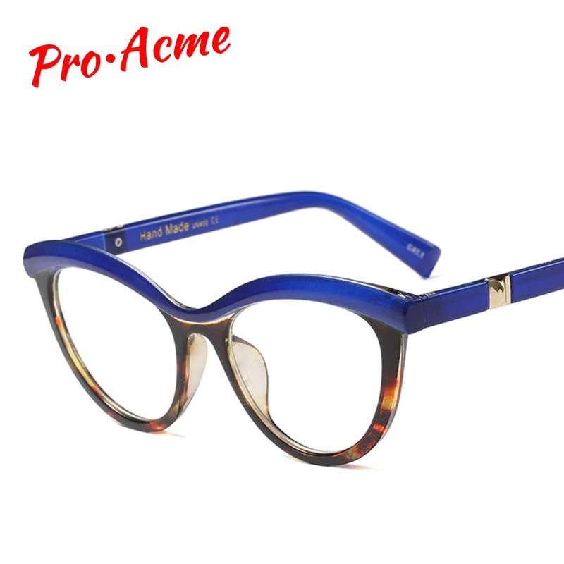 Pro Acme Ladies Eyebrows Cat Eye Glasses Frame Women Brand Designer Optical Eyeglasses Fashion Computer Clear Glasses PC1283