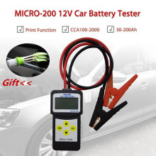 Micro 200 12V Car Battery Tester CCA100-2000 Car Diagnostic Tool Automotive Battery System Analyzer USB for Printing(China)