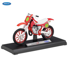 WELLY 1:18  HONDA CR250R    Diecast Alloy Motorcycle Model Toy For Children Birthday Gift Toys Collection цена и фото