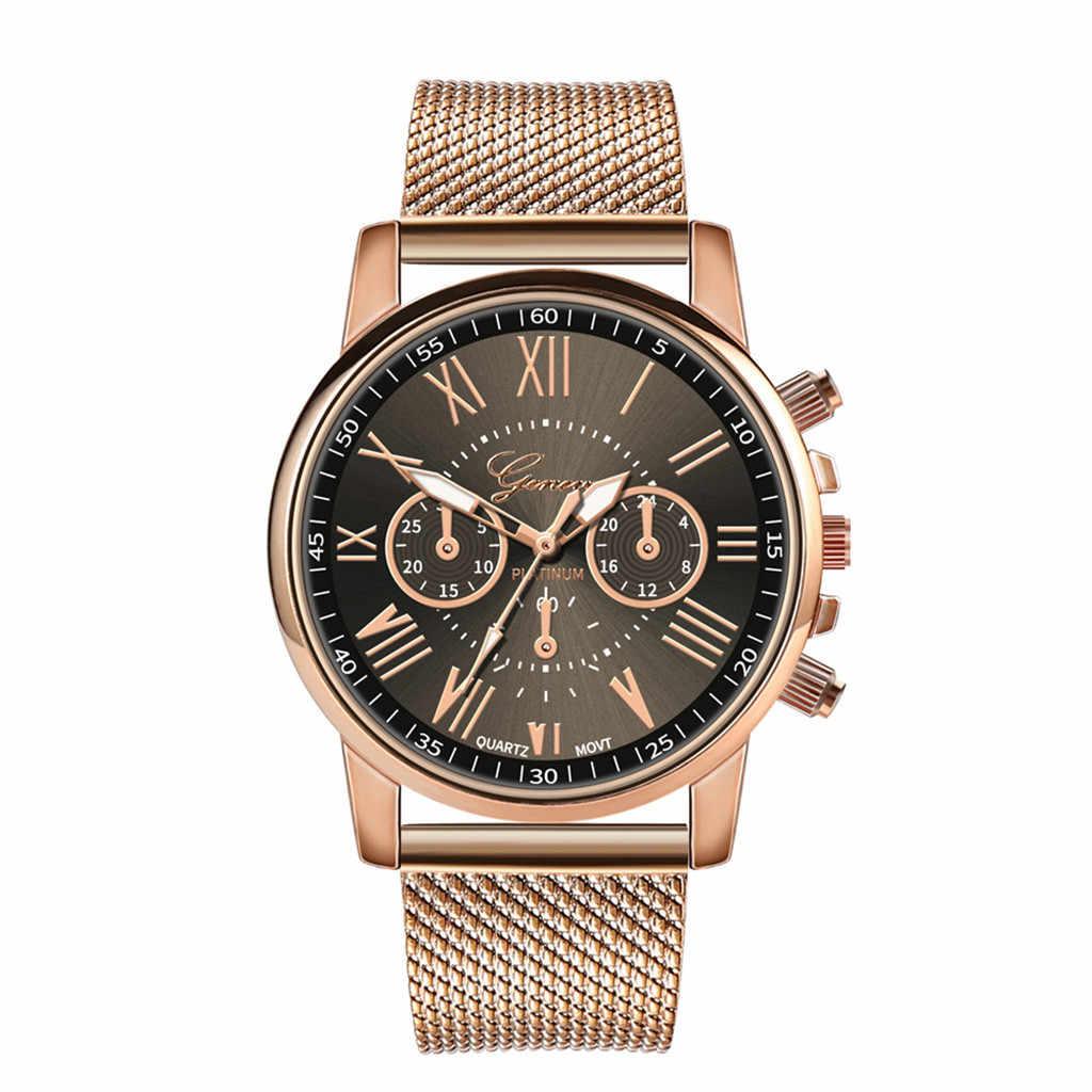Reloj de pulsera de lujo de cuarzo deportivo de acero militar reloj de pulsera con correa de cuero reloj de mujer