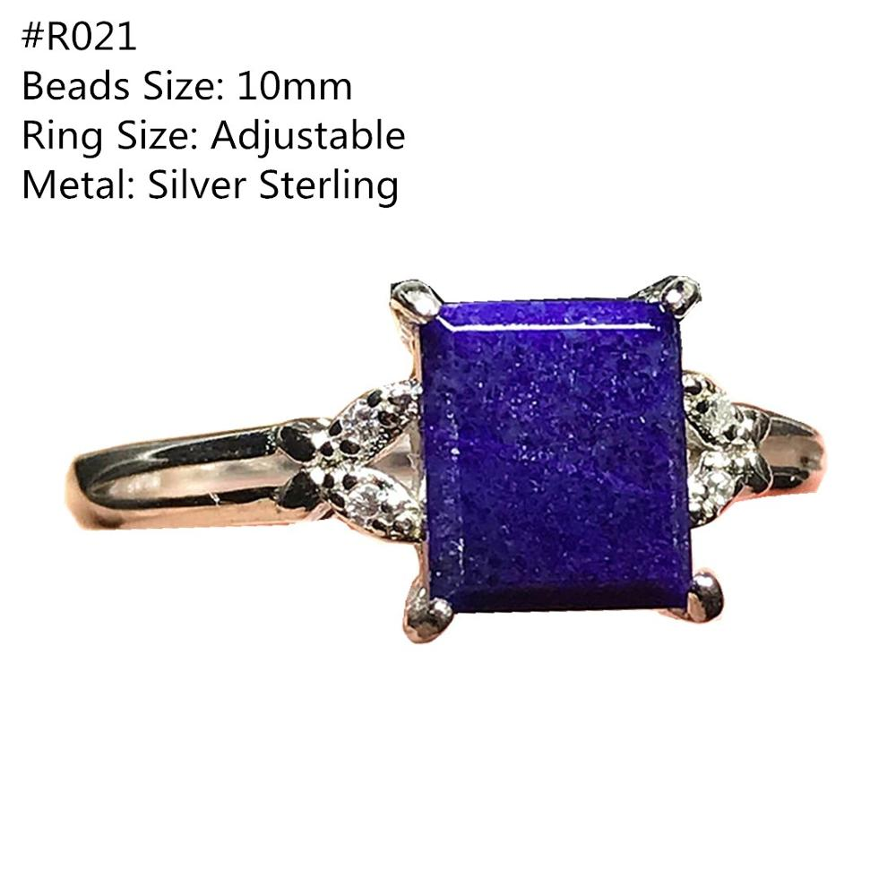 Top Natural Royal Purple Sugilite Ring Silver Sterling For Woman Lady Man Crystal Beads Gemstone Adjustable Ring Jewelry AAAAA