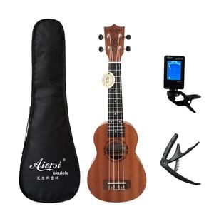 Aiersi brand 21 inch ukelele mahogany Soprano ukulele musical instrument hawaii guitar