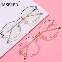 JASPEER Retro Anti Luce Blu Occhiali Occhiali Computer Uomini Raggi Blocco Gaming Occhiali Donne Telaio Dell'ottica del Metallo
