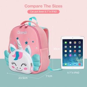Image 4 - Cocomilo 3D Cartoon Unicorn Kids School Bag Kawaii Soft Pink Unicorn Cute Kindergarten Backpack Toddler Baby Bag Children Gift