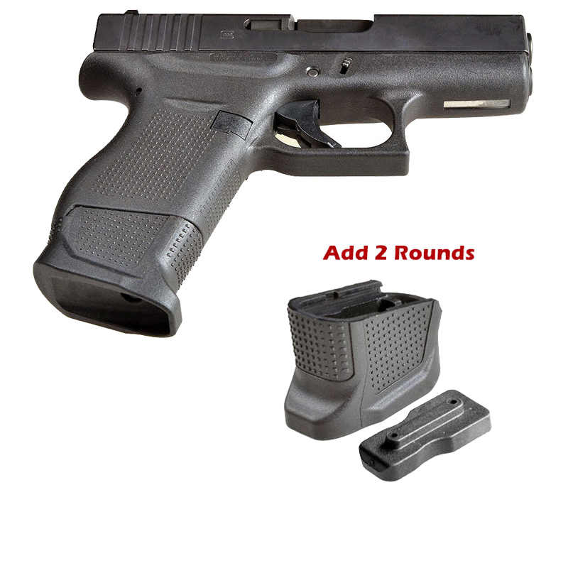 Tactical Grip Extension PG-19 for Glock 19//23 Mag Grip Base Plate Black