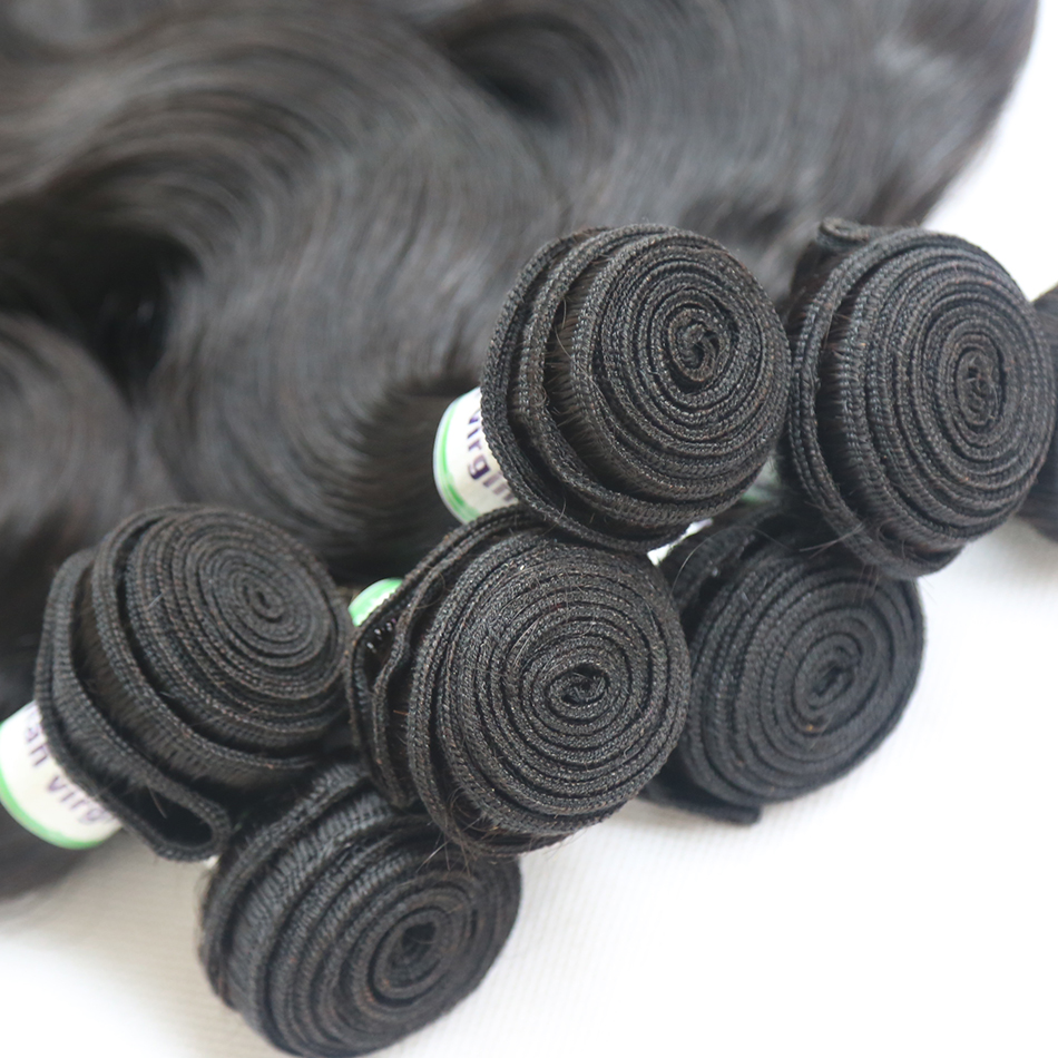 Poker Face Brazilian Body Wave Bundles Deals 1 3 4 Bundles 100% Human Hair Extensions Hair 28 30 40 Inch Non-Remy Middle Ration