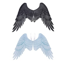 цены Unisex Non-Woven Fabric 3D Angel Wings Halloween Theme Party Cosplay Costume Accessories For Adults Men Women n