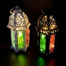 Lámpara colgante con batería LED, luz Vintage cepillada, lámpara colgante de luz, linterna de interior, decoración de Fiesta al aire libre, CD