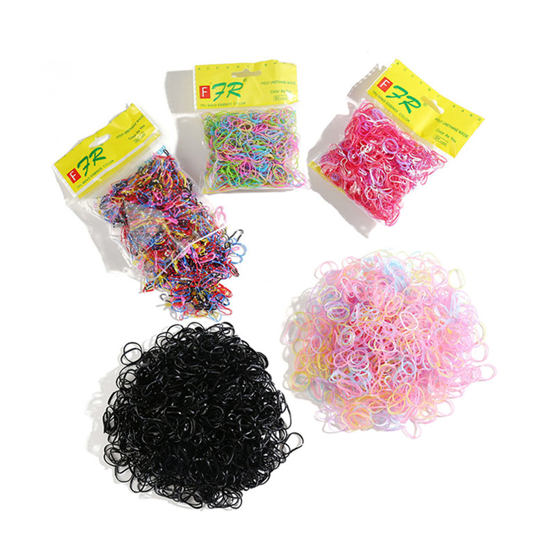 1000PCS/Bag Cute Candy Color Elastic Hair Scrunchie For Girl Women Haar Accessoires Fashion Tie Kids Baby Rubber Bands Wholesale