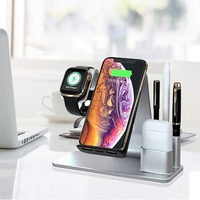 Wireless Charger 4 in 1 Wireless Charging Stand Dock Station QI Device For Apple Watch Series 4 3 2 Iphone XS MAX XR for IWatch