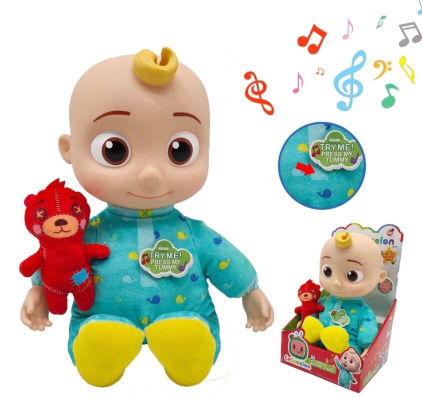 Новая плюшевая кукла кокомион, 30 см, Музыкальная шкатулка с семью видами музыки, куклы Джоджо, детские игрушки, спутник, Успокаивающая игруш...