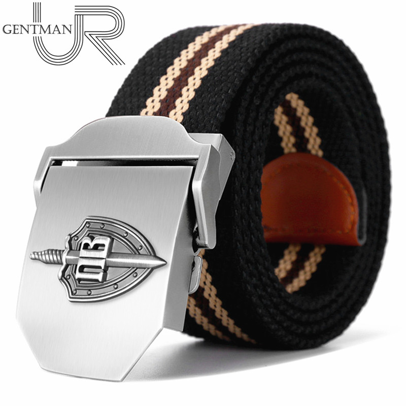 New Men & Women High Quality Belt 3D Russian Border Guard Troop Buckle Military Belt Strong Luxury Jeans Canvas Tactical Belt