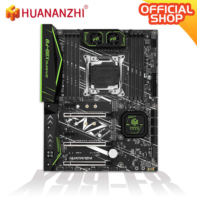 HUANANZHI X99-F8 Motherboard Intel XEON E5 X99 LGA2011-3 All Series DDR4 RECC/NON-ECC Memory NVME USB3.0 ATX Server Workstation