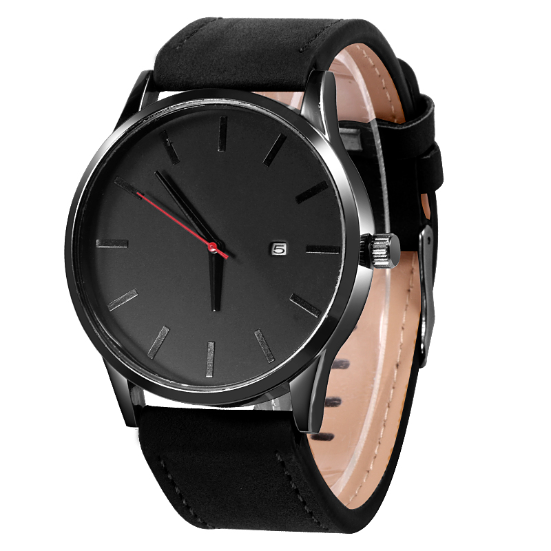 Men's Watches Fashion Leather Quartz Watch Men Casual Sports Male erkek kol saati Wristwatch Montre Hombre Relogio Masculino 1