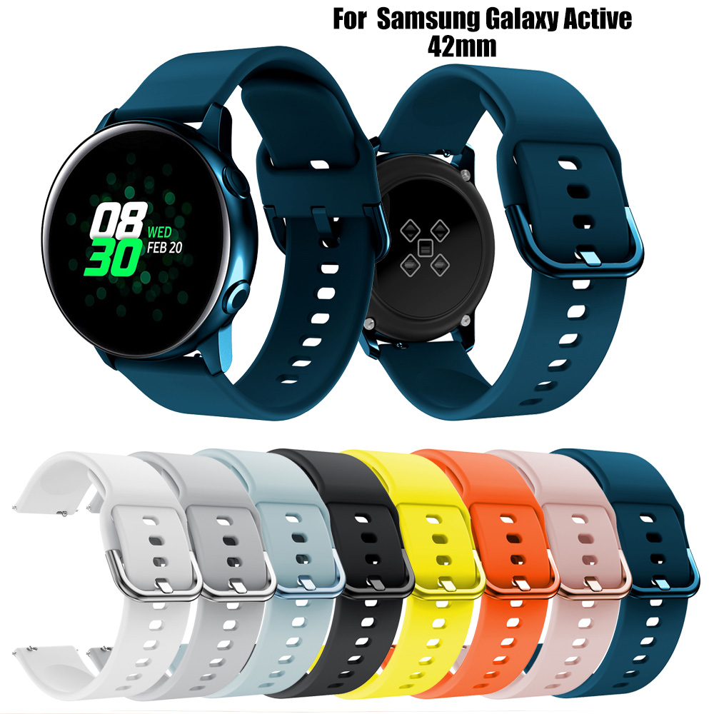Silicone Original Sport Watch Band For Galaxy Watch Active Smart Watch Strap For Samsung Galaxy Watch Replacement Strap 20MM