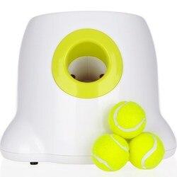 Machine à lancer automatique boules de Tennis | Chiens, jouets d'animaux domestiques, émission de sections avec 3 boules
