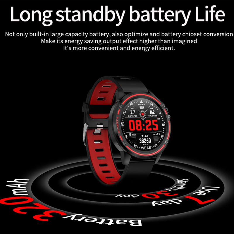 L8 Smart Watch Men IP68 Waterproof Reloj Hombre Mode SmartWatch With ECG PPG Blood Pressure Heart Rate Sports Fitness Watches repsol brake lever