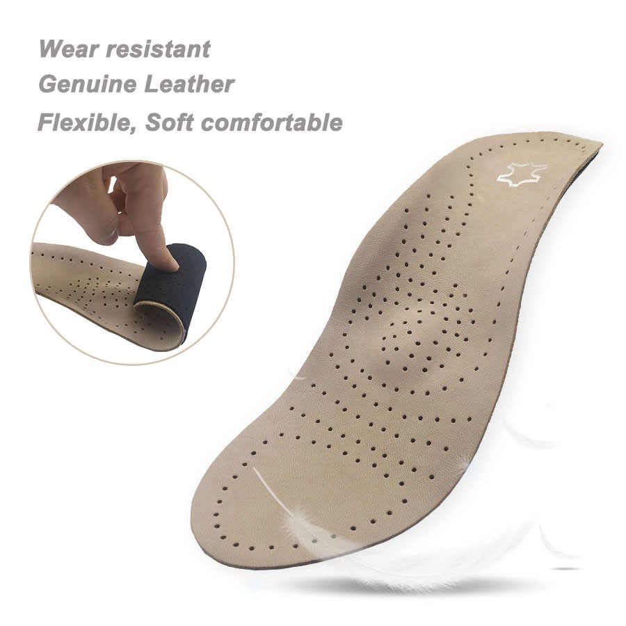 Unisex Orthotics Shoes Insoles Flat Foot High Arch Support 2.8-3cm Orthopedic Pad Cushion For Correction OX Leg Health Care